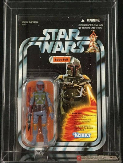 2010 Star Wars VC Hasbro Rocket Firing Boba Fett Mail Away AFA U9.0