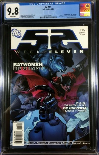 52 (2005) #11 CGC 9.8 1st appearance Batwoman Kate Kane (2002432007)