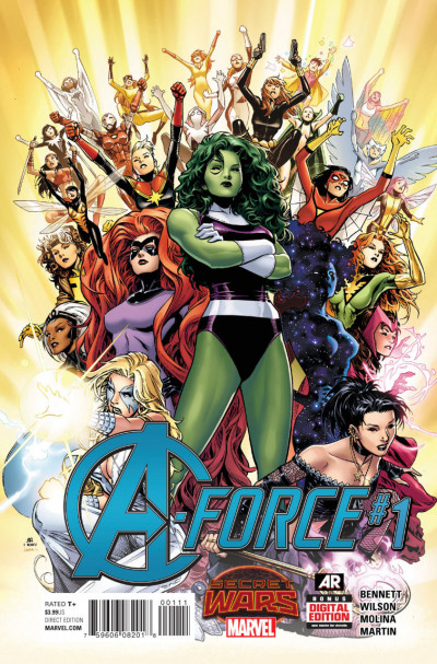 A-FORCE (2015) #1 VF/NM 1ST PRINTING SECRET WARS