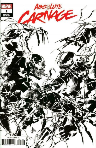 Absolute Carnage (2019) #1 VF/NM-NM Sketch Party Variant Cover Venom Deodato