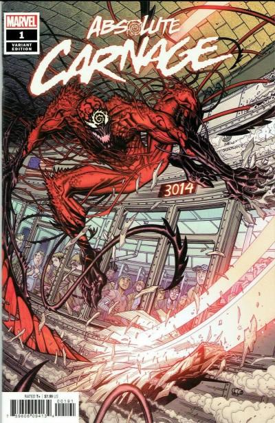 Absolute Carnage (2019) #1 VF/NM-NM Nick Bradshaw 1:50 Variant Cover Venom