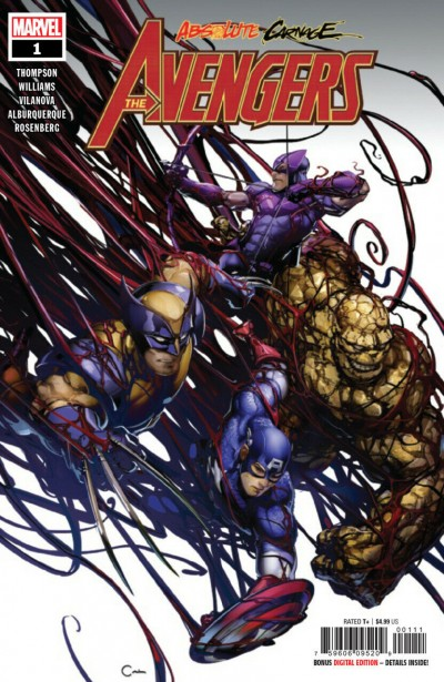Absolute Carnage: Avengers (2019) #1 VF/NM Clayton Crain Cover
