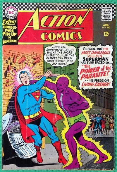 Action Comics (1938) #340 VG/FN (5.0) Superman 1st app Parasite
