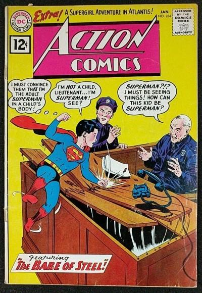 Action Comics (1938) #284 VG- (3.5) Mon-el app