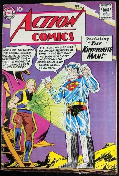 Action Comics (1938) #249 Superman VG (4.0)