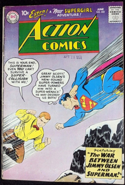 Action Comics (1938) #253 VG (4.0) Superman 2nd app Supergirl
