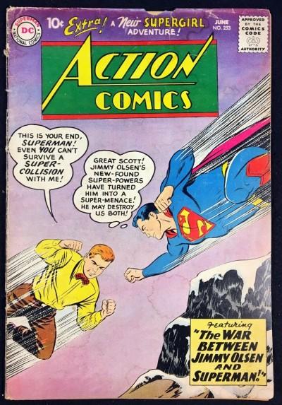 Action Comics (1938) #253 GD (2.0) Superman 2nd app Supergirl
