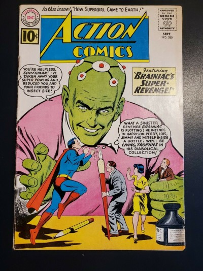 ACTION COMICS #280 (1961) F (6.0)  EARLY SUPERGIRL 1ST EARTH BRANIAC COVER |