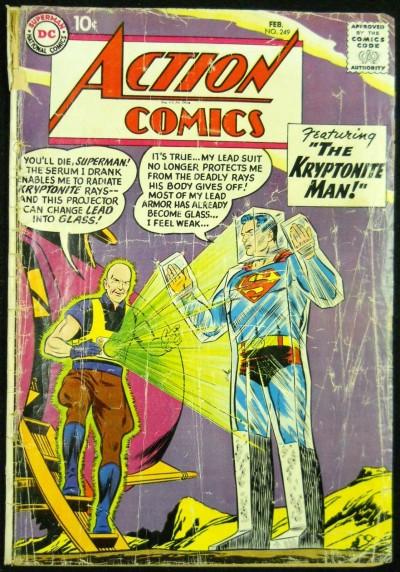 ACTION COMICS #249 GD- KRYPTONITE MAN