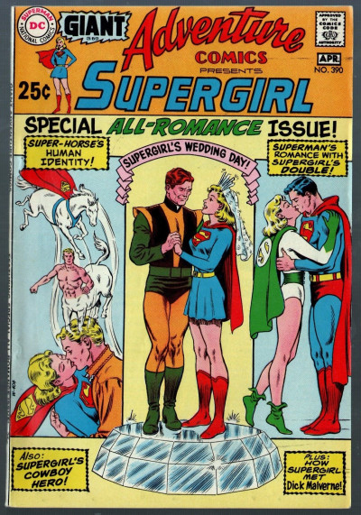 Adventure Comics (1938) #390 FN/VF (7.0) featuring Supergirl all Romance issue