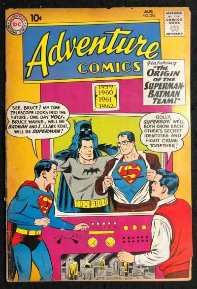 Adventure Comics (1938) #275 VG- (3.5) Origin of the Superman Batman Team-Up