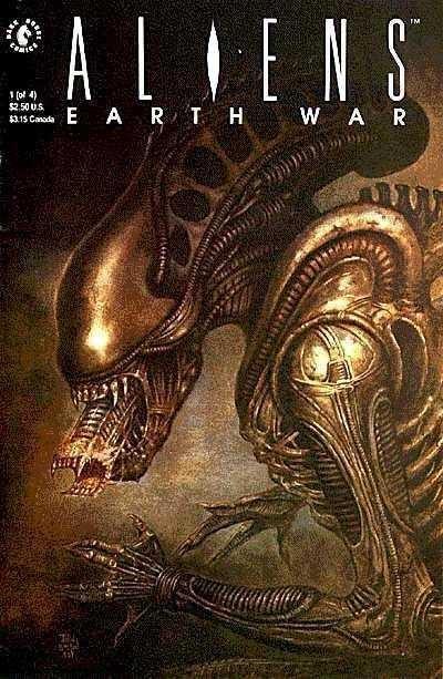 Aliens: Earth War (1990) #'s 1 2 3 4 Sam Keith John Bolton Dark Horse Comics