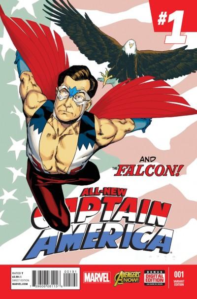 ALL-NEW CAPTAIN AMERICA (2014) #1 VF/NM COLBERT VARIANT COVER MARVEL NOW!