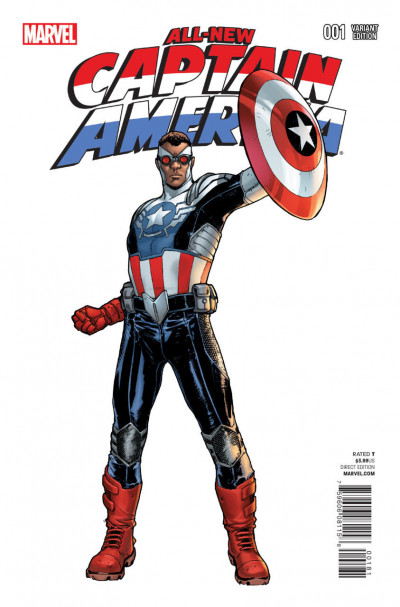 ALL-NEW CAPTAIN AMERICA (2014) #1 VF/NM PICHELLI VARIANT COVER MARVEL NOW!