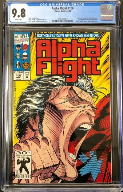 Alpha Flight (1983) #106 CGC 9.8 (3701832023)