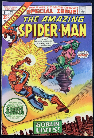 Amazing Spider-Man Annual (1973) #9 VG (4.0) Green Goblin cover & story