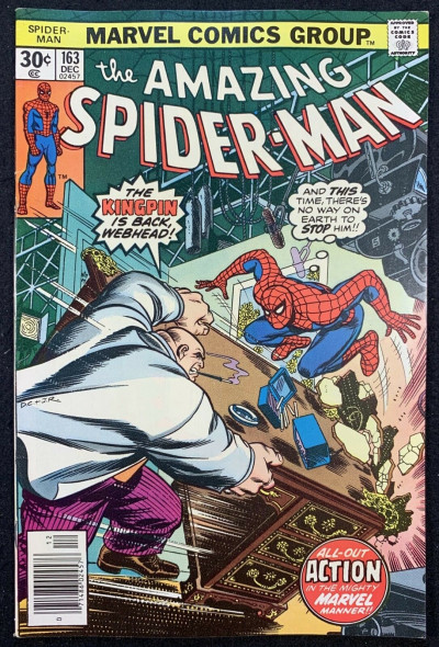 Amazing Spider-Man (1963) #163 VF+ (8.5) vs Kingpin part 1 of 2