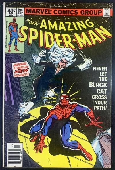 Amazing Spider-Man (1963) #194 FN/VF (7.0) App Black Cat