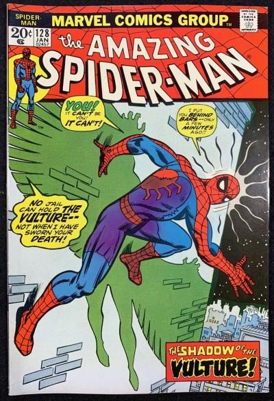 Amazing Spider-Man (1963) #128 VF+ (8.5) Vulture cover Mark Jeweler variant