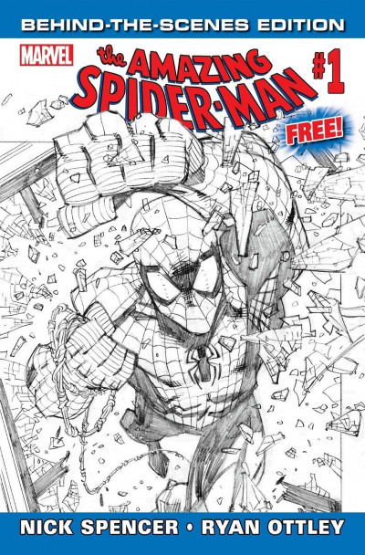 Amazing Spider-man (2018) #1 Behind The Scenes Edition Variant Cover