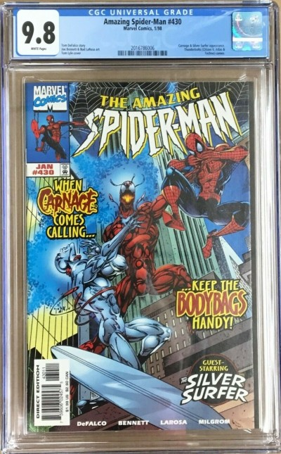 Amazing Spider-Man (1963) #430 CGC 9.8 Carnage & Silver Surfer app (2016786006)