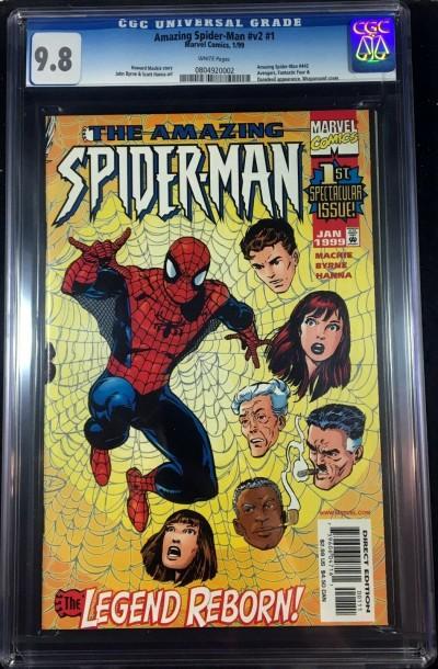 Amazing Spider-Man (1998) #1 (Lgy #442) CGC 9.8 (0804920002)