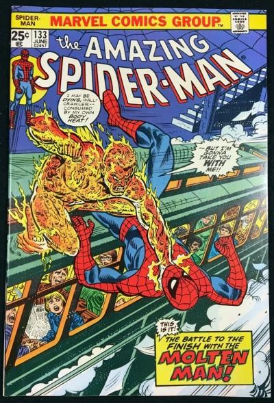 Amazing Spider-Man (1963) #133 NM- (9.2) vs Molten Man Mark Jewelers variant