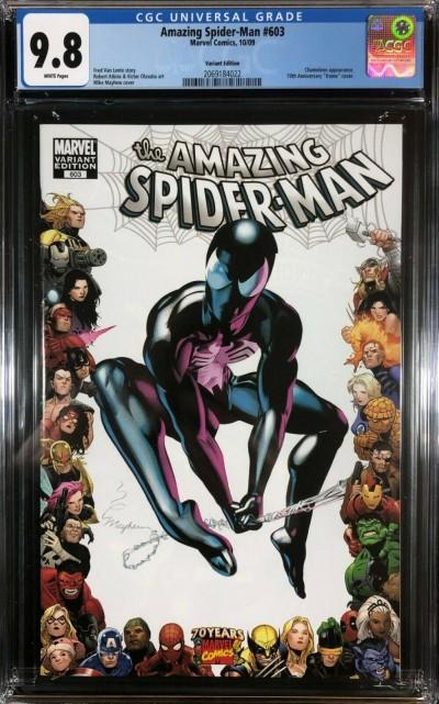 Amazing Spider-Man (1963) #603 CGC 9.8 70 years frame variant (2069184022)