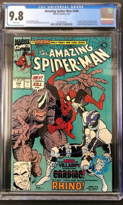 Amazing Spider-Man (1963) #344 CGC 9.8 White 1st app Cletus Kasady (3701833014)