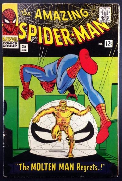 Amazing Spider-Man (1963) #35 FN- (5.5) 2nd app Molten Man