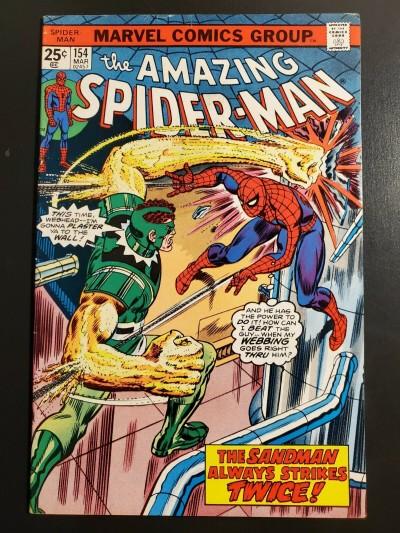 Amazing Spider-Man #154 (1977) F (6.0) Sandman cover/story|