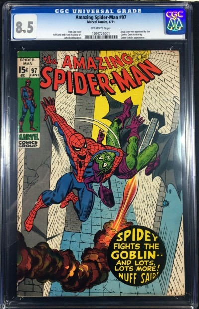 Amazing Spider-Man (1963) #97 CGC 8.5 no comics code drug story (1099726001)