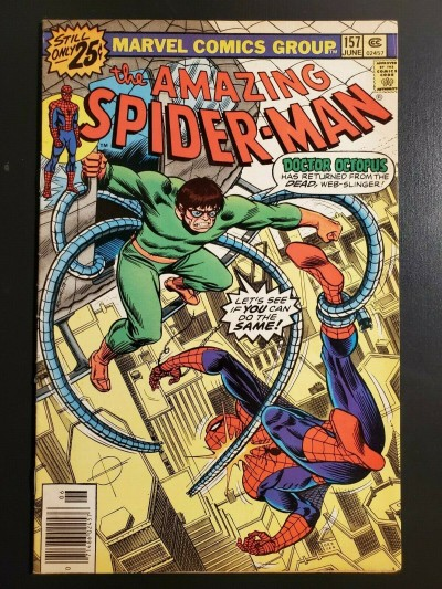 Amazing Spider-Man #157 (1977) F (6.0) Doctor Octopus cover/story 