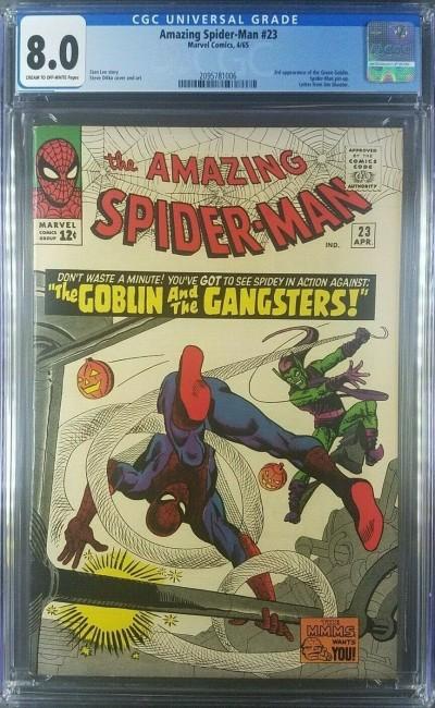 AMAZING SPIDER-MAN 1965 #23 CGC 8.0 VF vs. Green Goblin 2095781006  