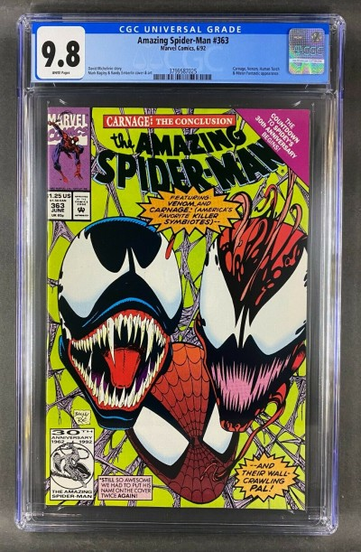 Amazing Spider-Man (1963) #363 CGC 9.8 White Pages 3rd App Carnage (3799587025)