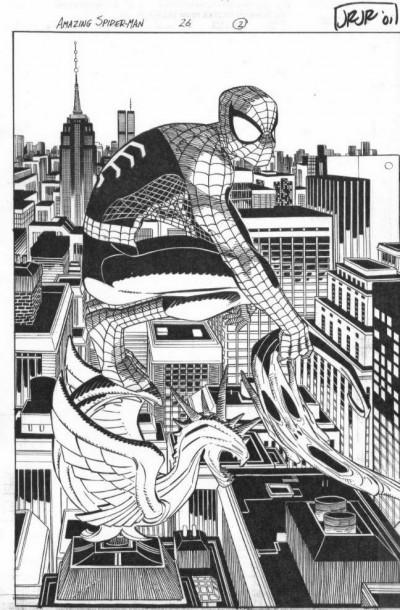 Amazing Spider-man (1999) #26 pgs 2 & 3 DPS John Romita Jr Original Comic Art