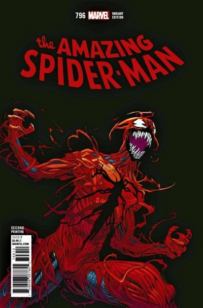 Amazing Spider-man (2015) #796 VF/NM Mike Hawthorne 2nd Second Printing Variant