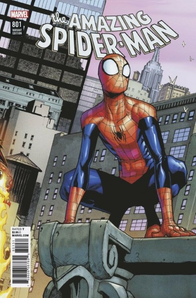 Amazing Spider-Man (2015) #801 VF/NM Connecting Humberto Ramos Variant Cover