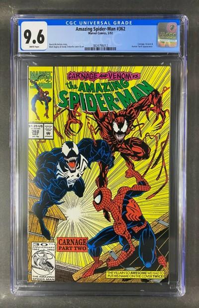 Amazing Spider-Man (1963) #362 CGC 9.6 White Pages Venom Carnage (3824796012)