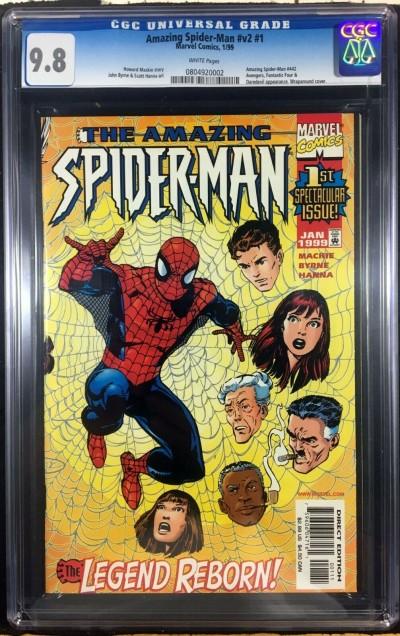 Amazing Spider-Man (1999) #1 (LGY #442) vol.2 CGC 9.8 John Byrne (0804920002)