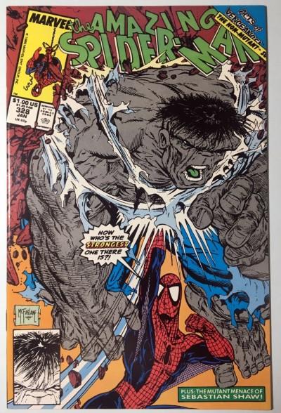 Amazing Spider-Man (1963) #328 NM- (9.2) classic McFarlane Hulk cover and art