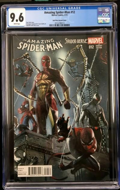 Amazing Spider-Man 12 (#745) CGC 9.6 Dell'Otto Spider-Verse variant (2016786013)
