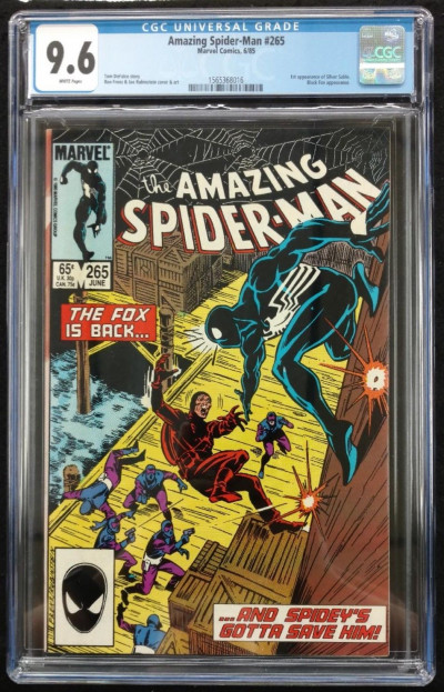 Amazing Spider-man (1963) #265 CGC 9.6 1st Appearance. Silver Sable (156368016)