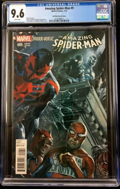 Amazing Spider-Man #9 (#742) CGC 9.6 Dell'Otto Spider-Verse variant (2016786011)