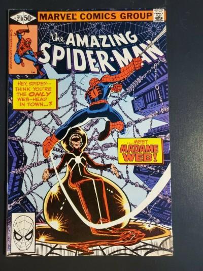 Amazing Spider-Man #210 1980 F+ 6.5 1st app. Madame Web moisture damage 