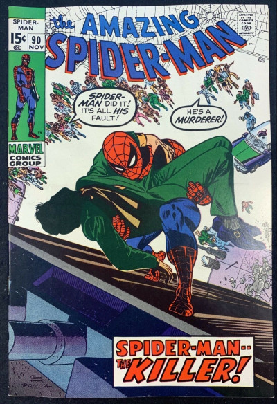 Amazing Spider-Man (1963) #90 NM- (9.2) Death of Captain Stacy Gwen's Father
