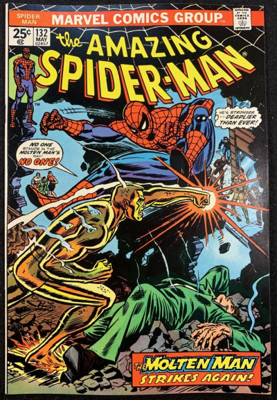 Amazing Spider-Man (1963) #132 VF/NM (9.0) Molten Man cover Mark Jeweler variant