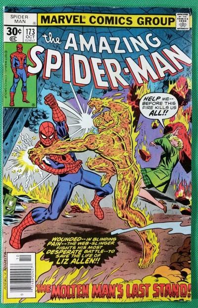 Amazing Spider-Man (1963) #173 VF- (7.5)  vs Molten Man