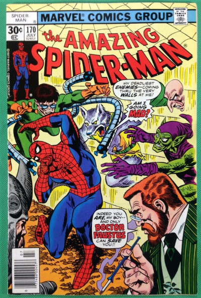 Amazing Spider-Man (1963) #170 FN+ (6.5)  Rogues Gallery cover Dr Faustus