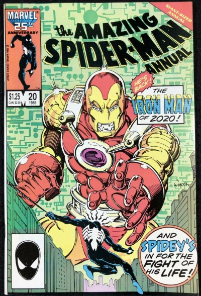Amazing Spider-Man Annual (1986) #20 NM (9.4) Iron Man 2020 cover and app